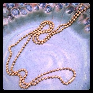 Jewelry - Gold toned ball chain